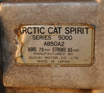 Arctic Cat spirit 5000,500 fan cooled, tested $375.00