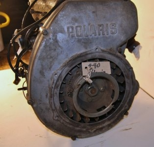 Polaris 440 fan cooled point ignition, compression tested and pressure tested, $300.00
