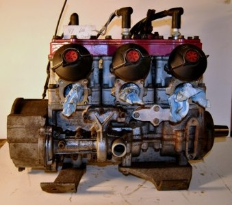 1997 Bombardier 600 3 cylinder with rave, use your own carbs and stator, $550.00
