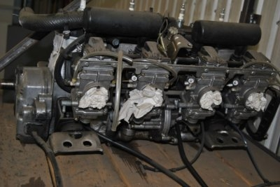 Yamaha vmax4 750cc new cylinder  on mag side sold with all carbs $1000.00. Image 1/2